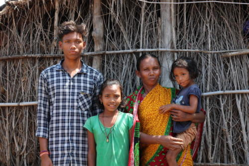 Family of single widow mother who has been economically strengthened